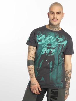 Yakuza T-skjorter Lock Up grå