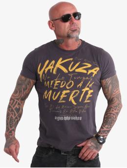 Yakuza T-skjorter Miedo  grå