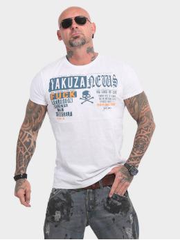 Yakuza T-skjorter News hvit