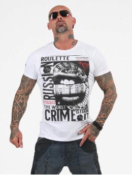 Yakuza T-skjorter Russian Roulette hvit