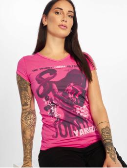 Yakuza T-skjorter Join Us V-Neck lyserosa