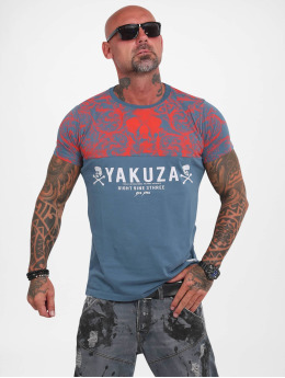 Yakuza T-skjorter Ornamentic Skull turkis