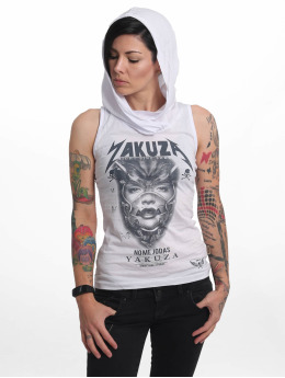 Yakuza Tank Tops No Me Jodas Hooded bílý