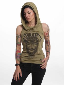 Yakuza Tank Tops No Me Jodas oliwkowy