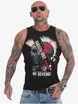 Yakuza Tank Tops Skull Revenge schwarz