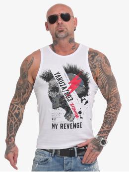 Yakuza Tank Tops Skull Revenge weiß