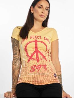 Yakuza Tričká Love & Peace žltá