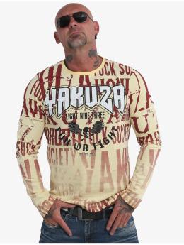 Yakuza Tričká dlhý rukáv Fun Or Fight žltá