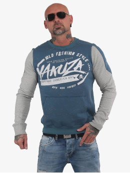 Yakuza trui Old Fashion Two Face Pouch blauw