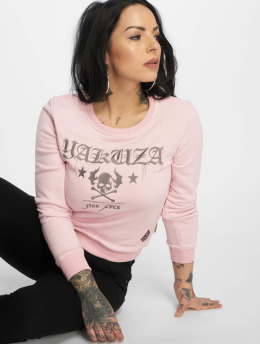 Yakuza trui Flying Skull pink