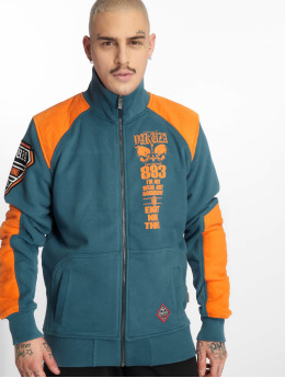 Yakuza Übergangsjacke Lily Skull Two Face Training blau