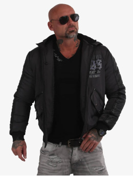 Yakuza Winter Jacket Skull Revenge grey