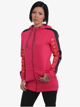 Yakuza Zip Hoodie Crests  pink