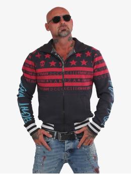 Yakuza Zip Hoodie Skulls N Stripes rød