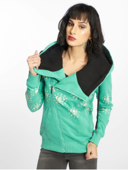 Yakuza Zip Hoodie Dot Crosswise turquoise