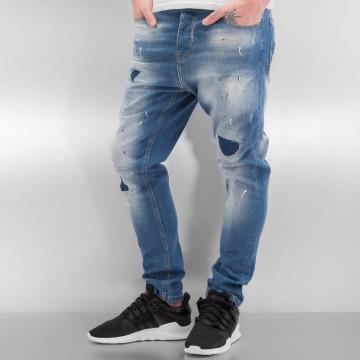 2Y dżinsy przylegające Namur niebieski
