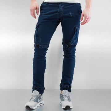 2Y Pantalon cargo Velcro Closure bleu
