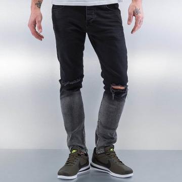 2Y Skinny Jeans Two Tone czarny
