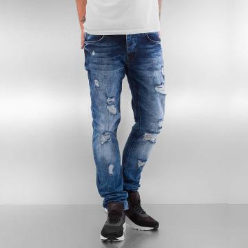 2Y Skinny Jeans Destroyed modrý