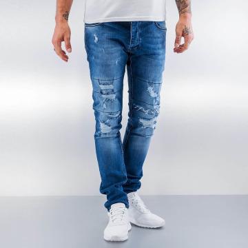 2Y Slim Fit Jeans Destroyed blå