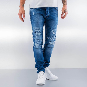 2Y Slim Fit Jeans Destroyed modrá