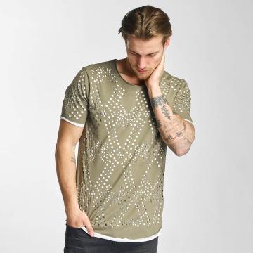 2Y T-shirts Holes khaki