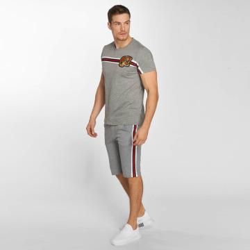 Aarhon Anzug Set Stripe grau