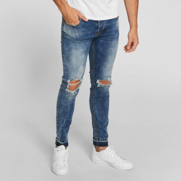 Aarhon Jean coupe droite Washed bleu