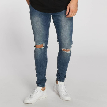 Aarhon Straight Fit Jeans Destroyed blå