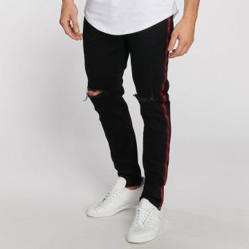 Aarhon Straight Fit Jeans Stripe schwarz