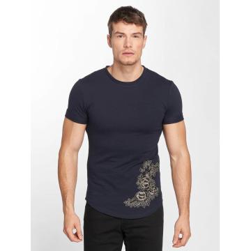 Aarhon T-Shirt Flower Print bleu