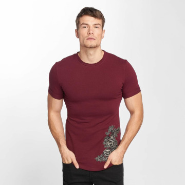 Aarhon T-Shirt Flower Print rouge