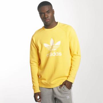 adidas Пуловер Trefoil желтый