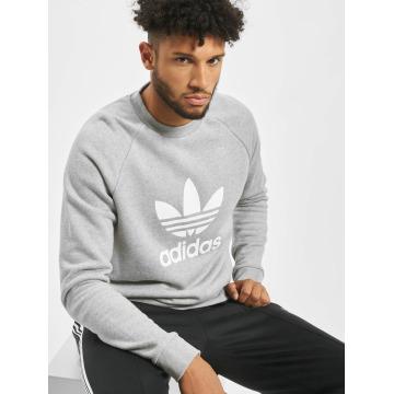 adidas Пуловер Trefoil серый