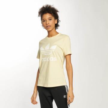 adidas originals Camiseta Trefoil amarillo
