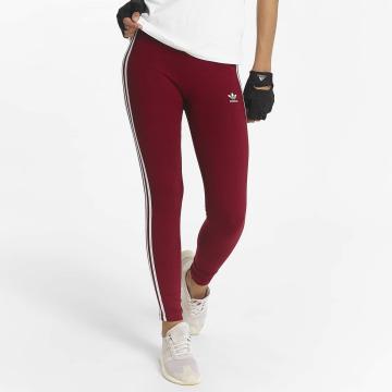 adidas originals Leggingsit/Treggingsit 3 Stripes punainen