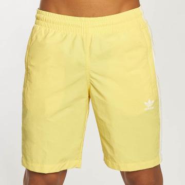 adidas originals Short de bain 3-Stripes jaune