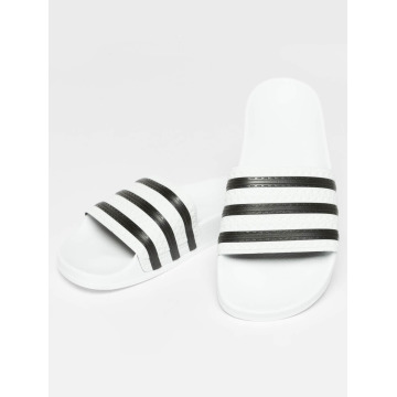 adidas originals Slipper/Sandaal Stripy wit