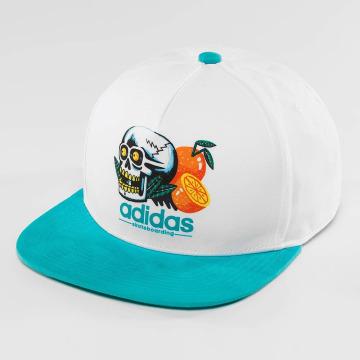 adidas originals Snapback Cap Oranges & Skull weiß
