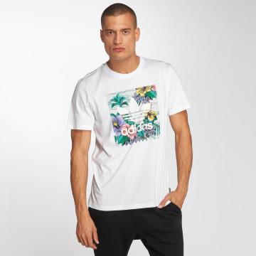 adidas originals T-shirt BB Floral bianco