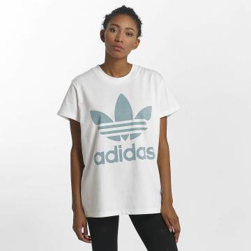 adidas originals T-shirt Big Trefoil bianco