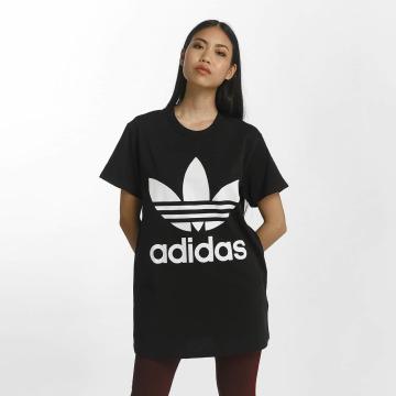 adidas originals t-shirt Big Trefoil zwart