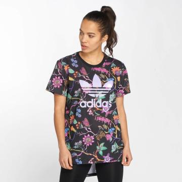 adidas originals t-shirt Longline zwart