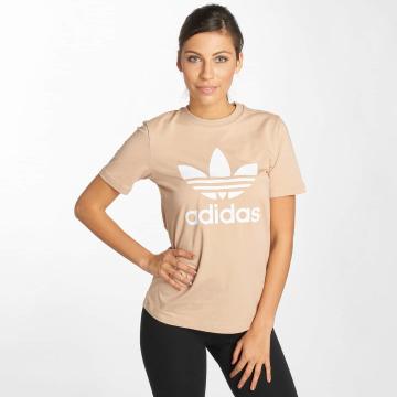 adidas originals T-Shirty Trefoil bezowy