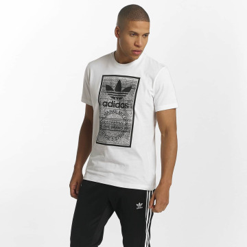 adidas originals T-skjorter Traction Trefoi hvit