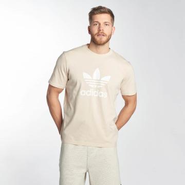 adidas originals Tričká Trefoil béžová