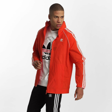 adidas originals Veste mi-saison légère Superstar Windbreaker rouge