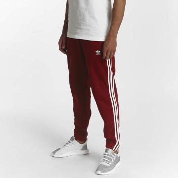 adidas Pantalone ginnico 3-Stripes rosso