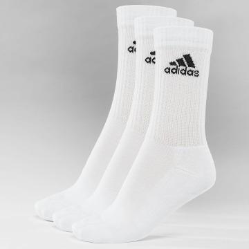 adidas Performance Chaussettes Performance 3-Stripes Performance Crew blanc