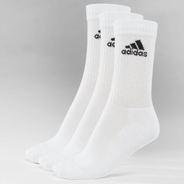 adidas Performance Strømper Performance 3-Stripes Performance Crew hvid